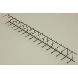 Вешалка для галстуков (стеллаж-стена) 52 см Платина