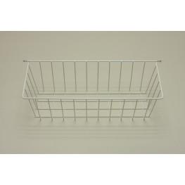 Корзина боковая белая (стеллаж-стена) 44 см, мини
