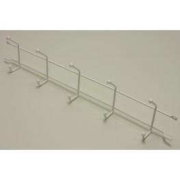 Вешалка с крючками (стеллаж-стена) 52 см Белая