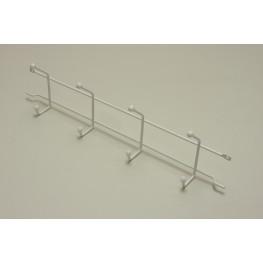 Вешалка с крючками (стеллаж-стена) 44 см (Мини) Белая